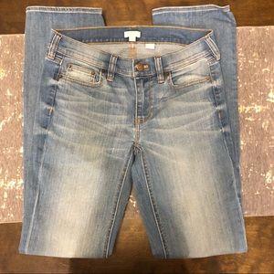 J. Crew Distressed Light Wash Straight Leg Jeans